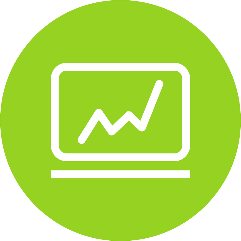 Icon representing improved supply chain performance