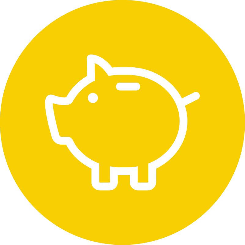 Icon depicting cost savings