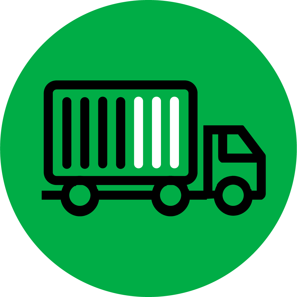 Green icon with less-than-truckload shipment
